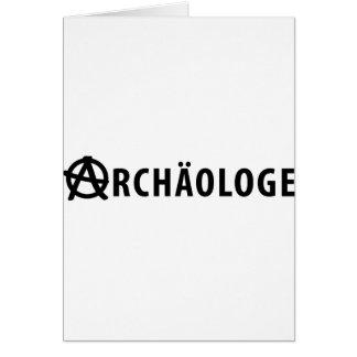Archäologe icon greeting card