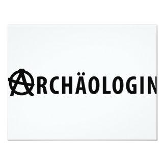 Archäologin icon 4.25x5.5 paper invitation card
