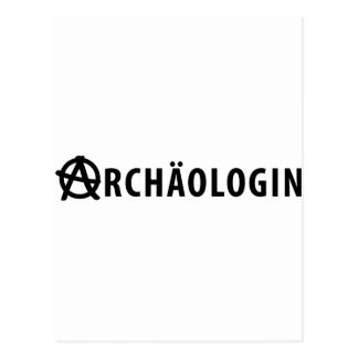 Archäologin icon postcard