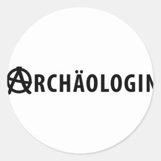 Archäologin icon classic round sticker