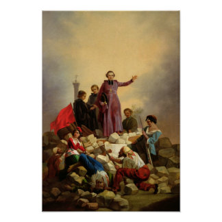 Archbishop Affre on the Barricades, 1848 Poster