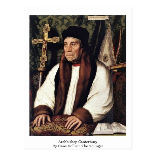 Archbishop Canterbury By Hans Holbein The Younger Postcard