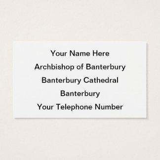 Archbishop of Banterbury 2 Business Card
