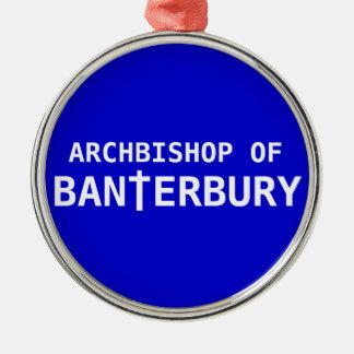 Archbishop of Banterbury 2 Metal Ornament