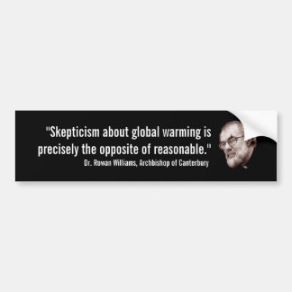 Archbishop of Canterbury Global Warming Bumper Sticker