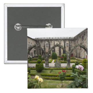 Archbishop Palace Of Braga With Garden 2 Inch Square Button