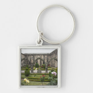 Archbishop Palace Of Braga With Garden Silver-Colored Square Keychain