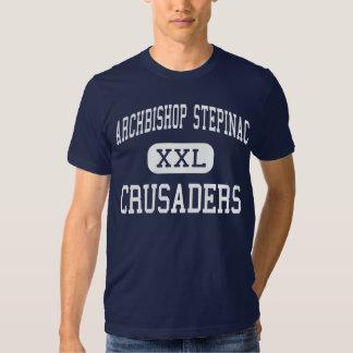 Archbishop Stepinac - Crusaders - White Plains T Shirt