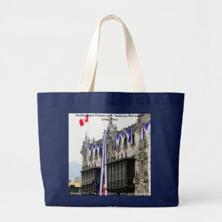 """Archbishop's Palace with """"Jealousy Balconies"""" Lima Large Tote Bag"""