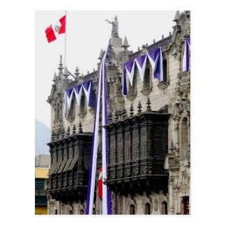 "Archbishop's Palace with ""Jealousy Balconies"" Lima Postcard"