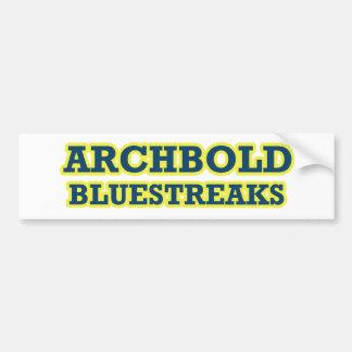Archbold Bluestreaks Pegatina Para Auto