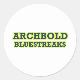 Archbold Bluestreaks Pegatina Redonda