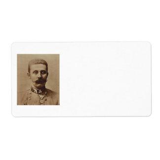 Archduke Franz Ferdinand of Austria Label