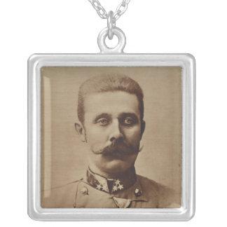 Archduke Franz Ferdinand of Austria Square Pendant Necklace
