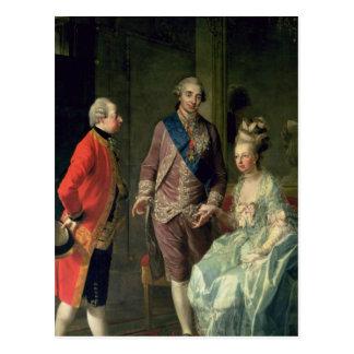 Archduke Maximilian Franz visiting Marie Postcard