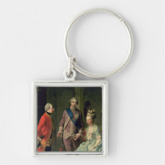 Archduke Maximilian Franz visiting Marie Silver-Colored Square Keychain