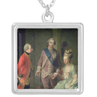 Archduke Maximilian Franz visiting Marie Silver Plated Necklace