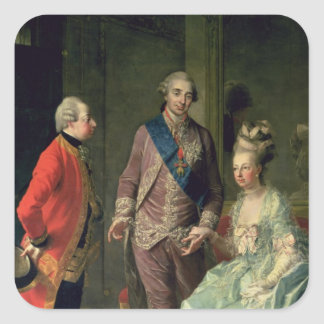 Archduke Maximilian Franz visiting Marie Square Stickers