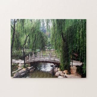 Arched Bridge in peaceful park Puzzle