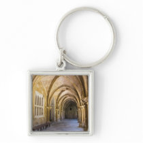 Arched Cathedral Cloister Hallway Keychain