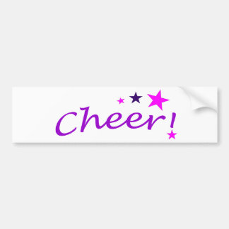 Arched Cheer with Stars Bumper Sticker