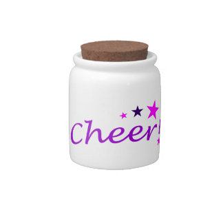 Arched Cheer with Stars Candy Jar