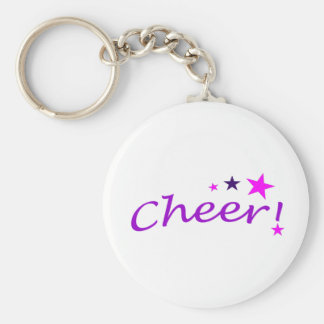 Arched Cheer with Stars Keychains
