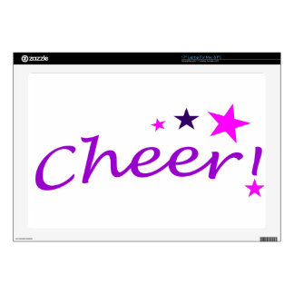 Arched Cheer with Stars Laptop Decal