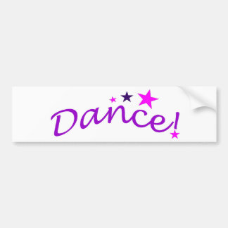 Arched Dance with Stars Car Bumper Sticker