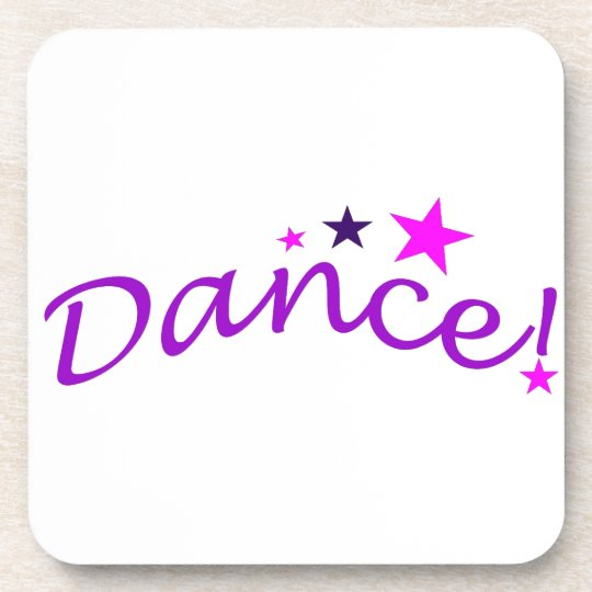 Arched Dance with Stars Drink Coaster