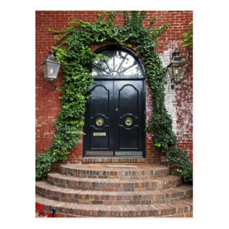Arched Doorway Framed With Ivy Postcard