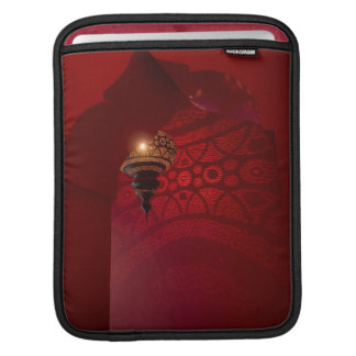 Arched entrance and illuminated lantern sleeve for iPads