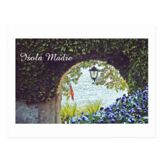 ARCHED ENTRYWAY WITH HANGING LANTERN AND FLOWERS POSTCARD