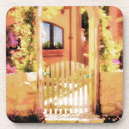 Arched Gate with Steps Drink Coaster