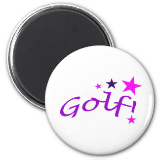 Arched Golf with Stars Magnet