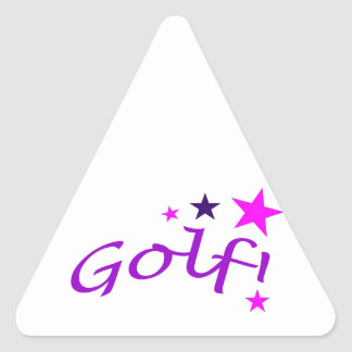 Arched Golf with Stars Stickers