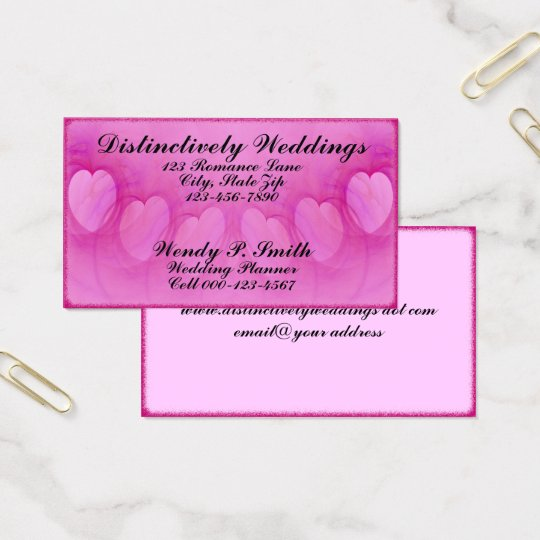 Arched Heart Line Artwork Business Card
