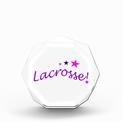 Arched Lacrosse with Stars Awards