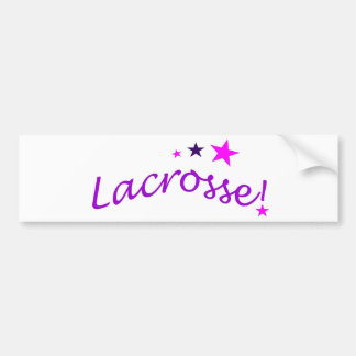 Arched Lacrosse with Stars Car Bumper Sticker