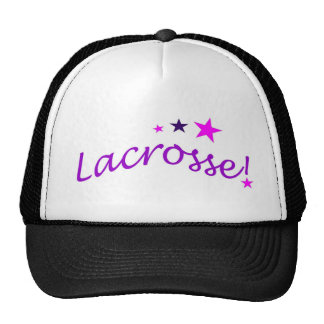 Arched Lacrosse with Stars Trucker Hat