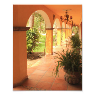 Arched Patio Walkway Photo Print