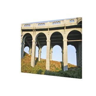 Arched supports Patterson Memorial Bridge Canvas Print