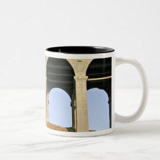 Arched supports Patterson Memorial Bridge Two-Tone Coffee Mug
