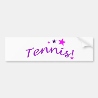 Arched Tennis with Stars Bumper Sticker