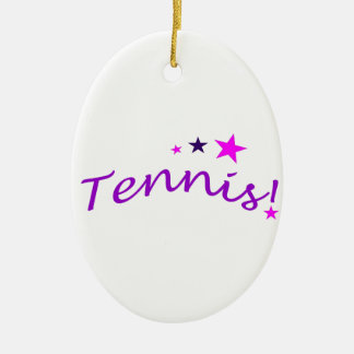 Arched Tennis with Stars Ceramic Ornament