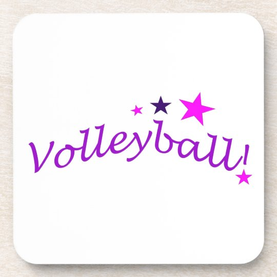 Arched Volleyball with Stars Drink Coaster