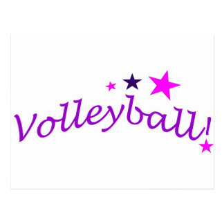 Arched Volleyball with Stars Postcard