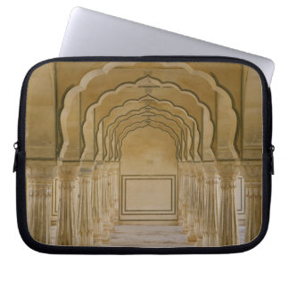 Arched walkway with columns inside Amber Palace, Computer Sleeve