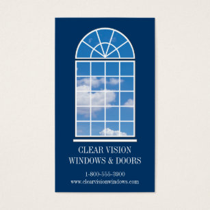 Windows and doors business cards templates zazzle arched window business card fbccfo Choice Image