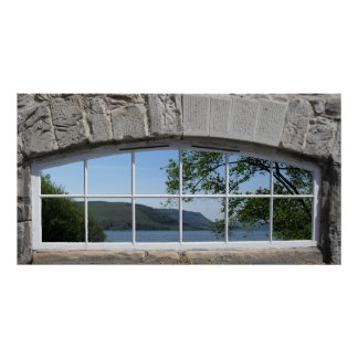 Arched Window - Fake View of Sottish Loch Poster